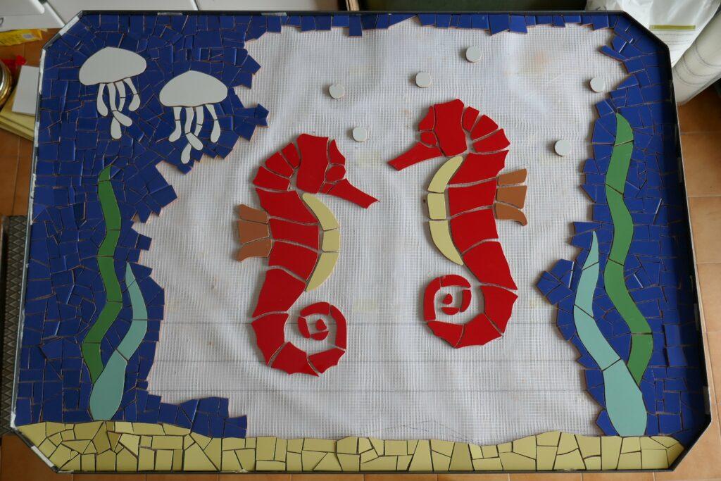 Mesa mosaico jardin manualidades